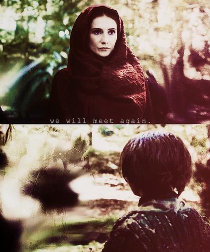 Melisandre & Arya Stark
