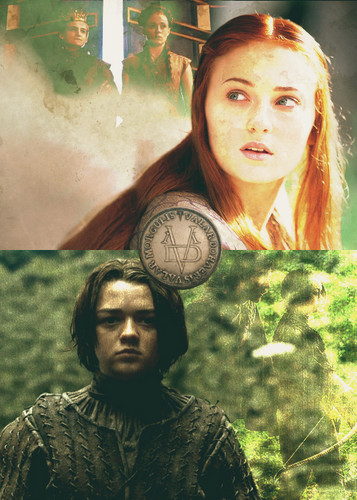 Game of Thrones wallpaper called Arya & Sansa Stark