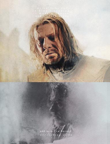 Theon Greyjoy & Eddard Stark