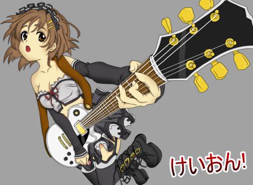 violão, guitarra animê