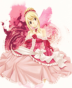 fairy tail ( Lucy Heartfilia ) wallpaper containing a bouquet called Lucy¸.•´¯`♡