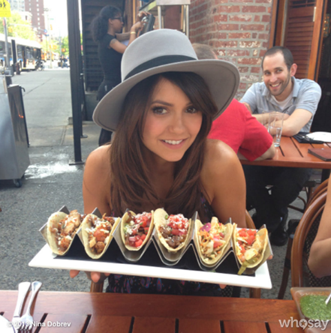 Nina Dobrev fond d'écran with a lunch, a brunch, and an antipasto called in NY