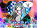 its so cute if i could i would go with her - hatsune-miku fan art