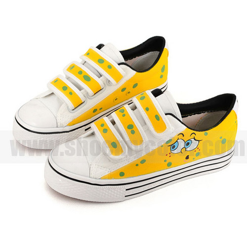 kids SpongeBob hand painted shoes
