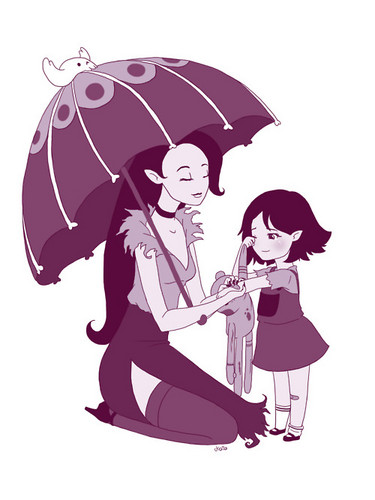 little marcy and mom