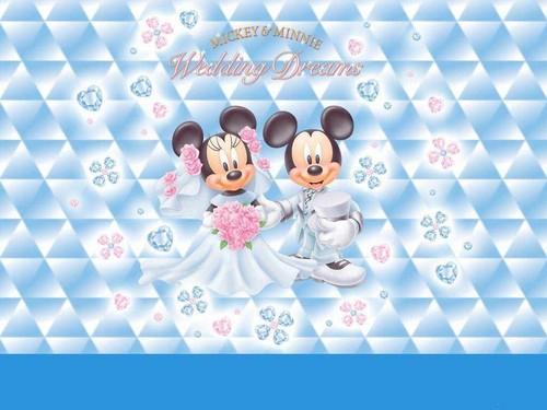 Disney wallpaper entitled mickey and minnie wedding dreams