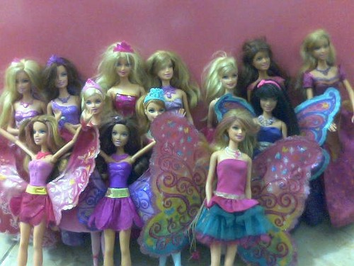 my barbie dolls!