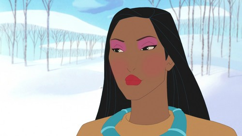 pocahontas' winter look