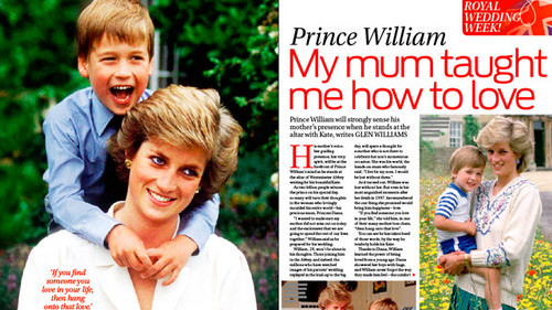 Il Principe William wallpaper possibly with a portrait titled prince william and diana