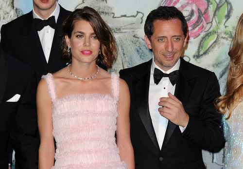 Prinzessin charlotte Casiraghi Hintergrund probably containing a bridesmaid, a dress suit, and a business suit called 'Bal De La Rose Du Rocher' in Aid of the Foundation Princess Grace