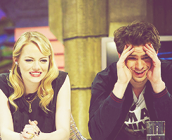 Andrew Garfield and Emma Stone wallpaper possibly with a portrait entitled » andrew & emma «
