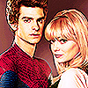 Andrew गारफील्ड and Emma Stone चित्र probably with a portrait entitled » andrew & emma «