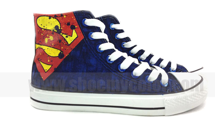 2013 new Superman hand painted shoes