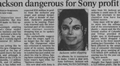 A Newspaper Article Pertaining To Michael - michael-jackson photo