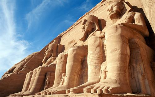 Egypt achtergrond entitled Abu Simbel Temples Egypt