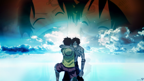 one piece wallpaper called Ace & Luffy