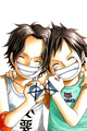 Ace & Luffy - one-piece photo