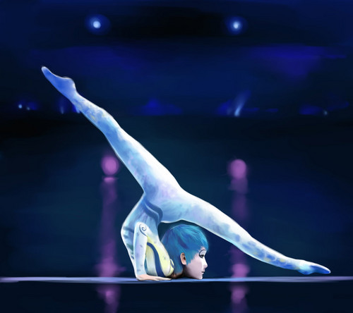 Cirque du Soleil wallpaper probably with a balance beam titled Alegria: contortion act, taruka