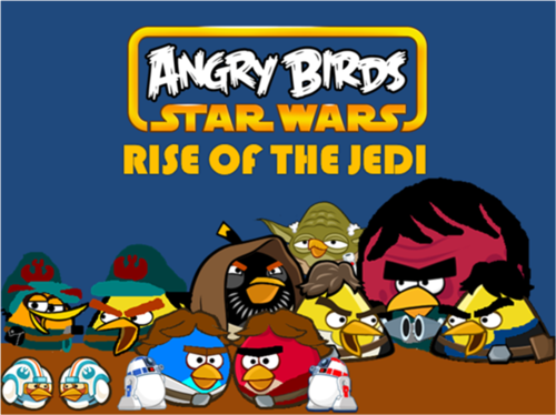 Angru Birds wallpaper containing Anime called Angry Birds stella, star Wars