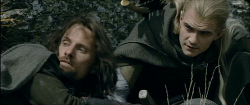 Aragorn and Legolas in The Two Towers