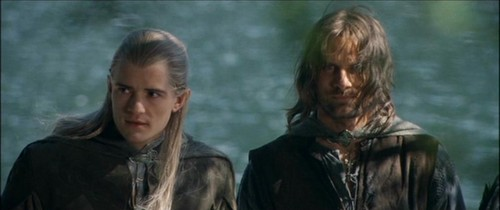 Aragorn and Legolas in the Fellowship of the Ring