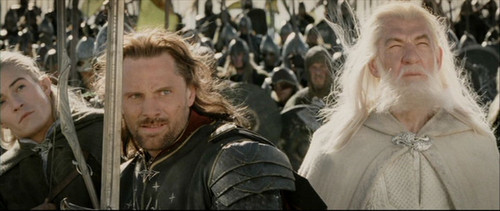 Aragorn and Legolas in the Return of the King