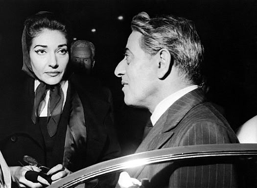 Aristotle Onassis with Maria Callas
