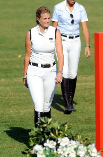Athina Onassis Roussel and her husband Alvaro attend the CSIO Barcelona 2011 horse show.