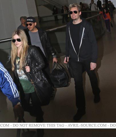 Avril, Chad & Gabriel ~ New York