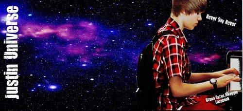 BG for Twitter : Justin Bieber Purple Universe