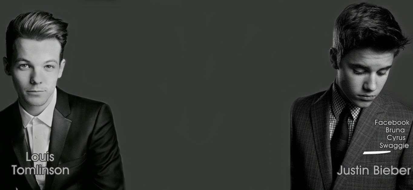 BG for Twitter : Justin Bieber and Louis Tomlinson - 1D