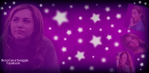 BG for Twitter : Miley Cyrus Purple Stars