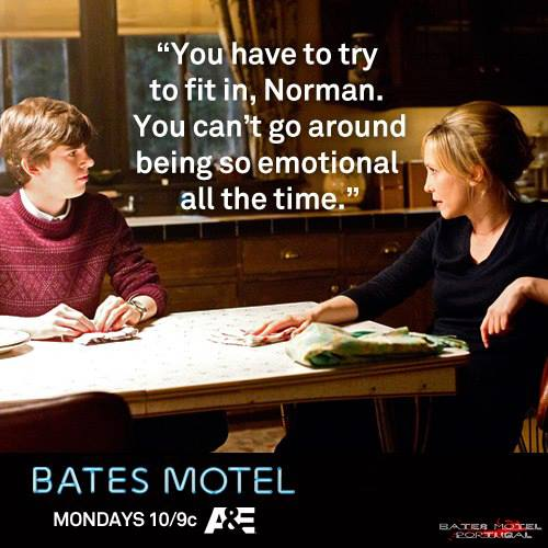 Bates Motel Hintergrund with a sign, a Lesen room, and a brasserie titled Bates Motel Zitate