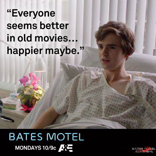 Bates Motel wallpaper containing a portrait called Bates Motel Quotes
