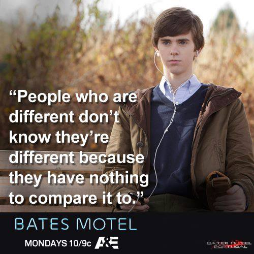 Bates Motel karatasi la kupamba ukuta probably containing an outerwear, a box coat, and an overgarment titled Bates Motel nukuu
