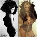 Copycat: Beyonce copies Jennifer Lopez (2011) - jennifer-lopez fan art