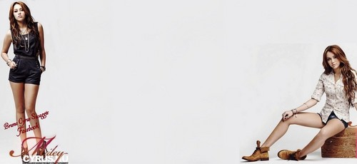 BG for Twitter : Miley Cyrus and Max Azria Juniors