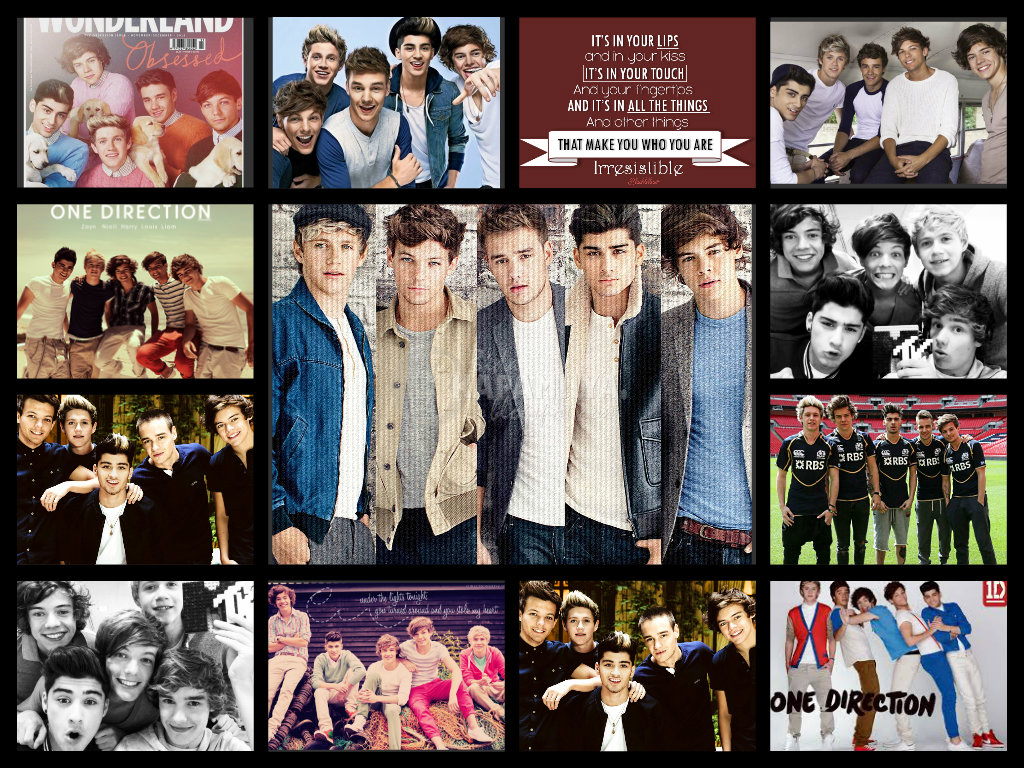 [50+] 1D and 5SOS Wallpaper on WallpaperSafari |One Direction Collage Wallpaper