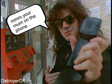 """Charlie Benante: """"mmm your mum on the phone..."""""""