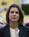 شارلٹ Casiraghi enjoys game of football in Monaco