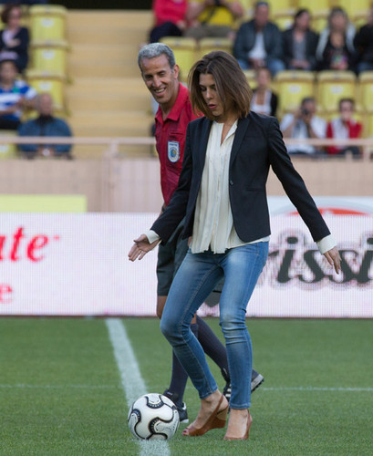 princess charlotte Casiraghi wallpaper called Charlotte Casiraghi enjoys game of football in Monaco