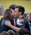шарлотка, шарлотта Casiraghi enjoys game of football in Monaco