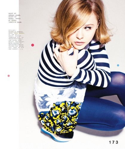 Chloe Moretz wallpaper probably containing a top, a playsuit, and tights titled Chloe Moretz | Magazine Scans