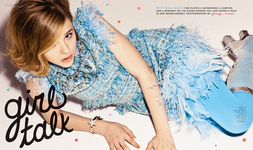 Chloe Moretz wolpeyper probably containing a portrait titled Chloe Moretz | Magazine Scans