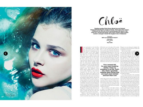 Chloe Moretz wallpaper probably containing a portrait entitled Chloe Moretz | Magazine Scans