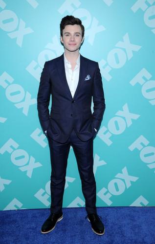 Chris at fox's upfronts