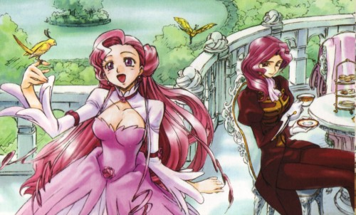 Code Geass karatasi la kupamba ukuta containing anime titled Cornelia and Euphemia