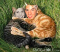 Cory and Topanga as loving cats