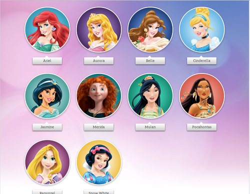Disney Princess karatasi la kupamba ukuta entitled Disney Princess - The Disney Princesses