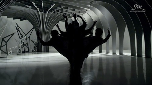 EXO-K wallpaper probably with a living room, a drawing room, and a fanlight called EXO- Wolf MV teaser